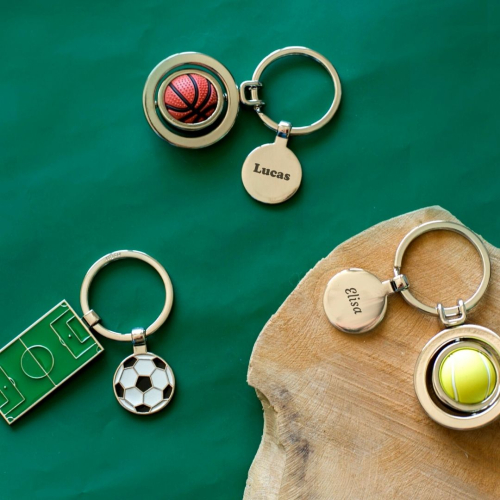 Llavero balón de fútbol personalizado