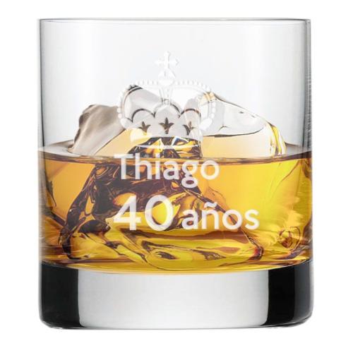Vaso de whisky personalizado de cumpleaños
