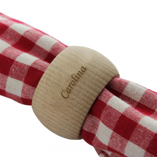 Servilletero personalizado en madera