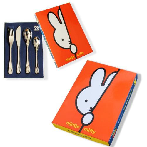 Cubiertos y caja Miffy