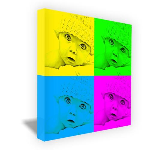 Lienzo cuadrado Pop Art moderno