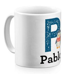 Taza personalizada alfabeto y animal