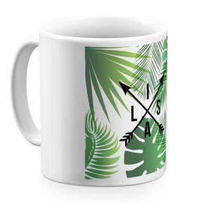 Taza personalizada palmeras y flechas