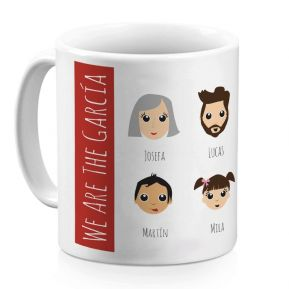 Taza personalizada We Are Family