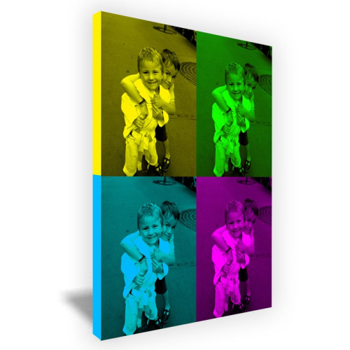 Lienzo Pop Art moderno 4 fotos formato vertical