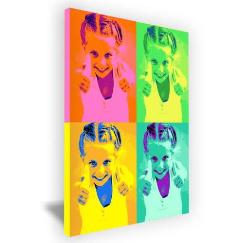 Lienzo pop Art 4 fotos formato vertical
