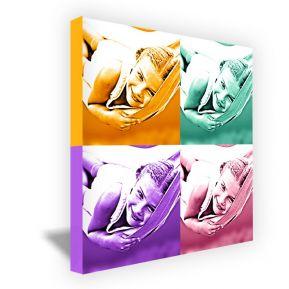 Lienzo cuadrado monocromático 4 fotos