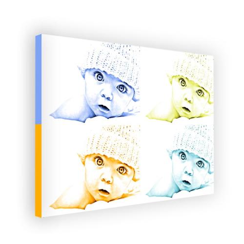 Lienzo monocromático 4 fotos formato horizontal