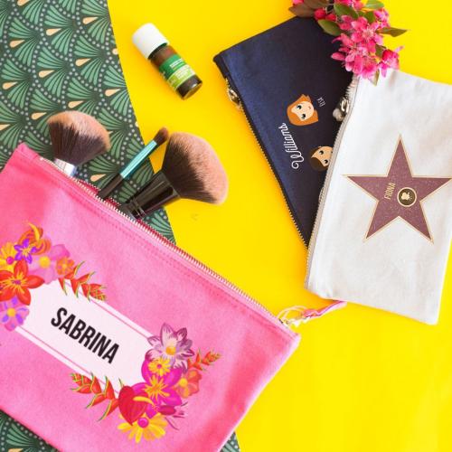 Bolsa multi-usos personalizada con flores exoticas