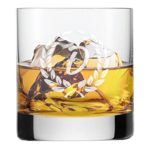 Vaso de whisky personalizado inicial
