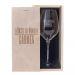 Copa de vino grabada con un nombre