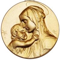 Medallas de bautizo grabadas