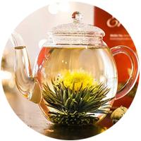 Té personalizado y flores de té mágicas