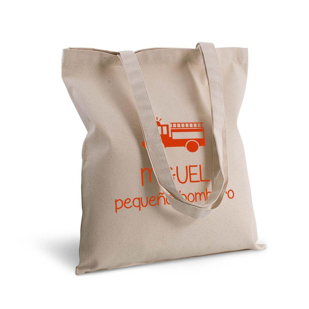 Bolsa de algodón personalizada con texto y motivo