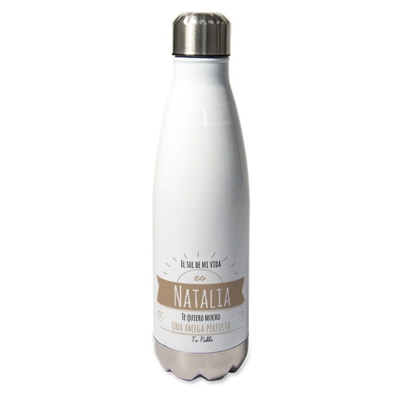 Botella térmica personalizada mensaje soleado