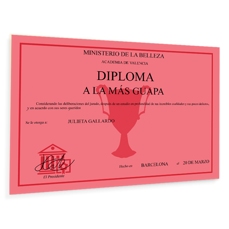 Diploma personalizado